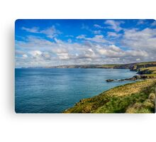 Port Isaac to Tintagel View Canvas Print