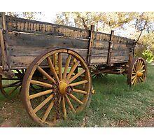 Yellow Wagon Photographic Print