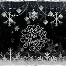 Happy Holiday Snowflakes and Ornaments by Scott Mitchell