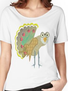 Peacock impression Women's Relaxed Fit T-Shirt