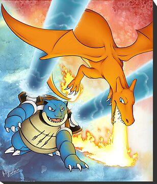 Charizard vs Blastoise by CunningFox