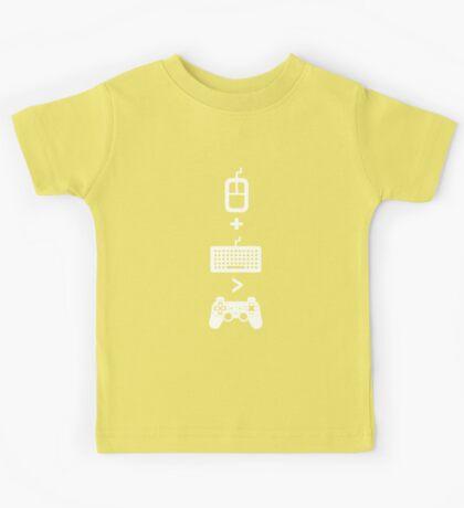 Mouse+Keyboard>Controller Kids Tee