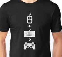 Mouse+Keyboard>Controller Unisex T-Shirt