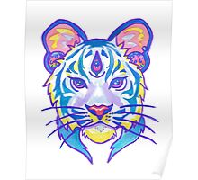 Clairvoyant Pastel Tiger Poster