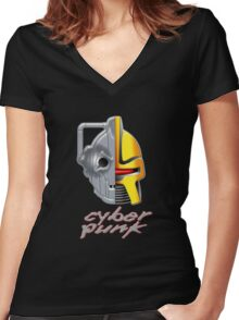 Cyber Punk Women's Fitted V-Neck T-Shirt