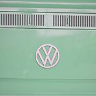Mint Green VW Campavan by Elinor Barnes