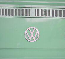 Mint Green VW Campavan by Prettyinpinks