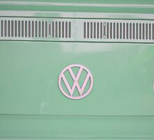 Mint Green VW Campavan by Prettyinpinks