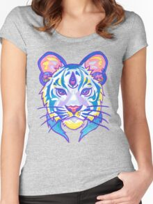 Clairvoyant Pastel Tiger Women's Fitted Scoop T-Shirt