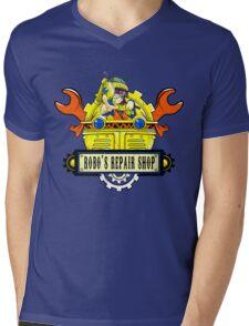 Robo Repair Shop Mens V-Neck T-Shirt