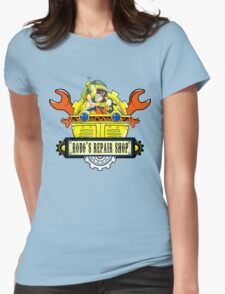Robo Repair Shop Womens Fitted T-Shirt