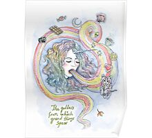 The Goddess From Which Grand Things Spew Poster