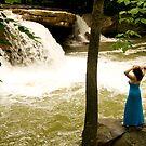 Karen at the falls by Mountainimage