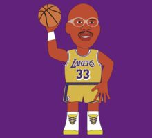 NBAToon of Kareem Abdul-Jabbar, player of Los Angeles Lakers by D4RK0