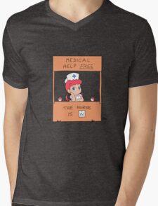 Free Medical Help Mens V-Neck T-Shirt
