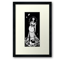 Miss Down-to-Earth Framed Print