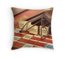 Lost for Words - Scrabble - Mike Hope Throw Pillow
