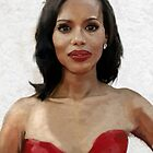 Kerry Washington Portrait by visionstretcher