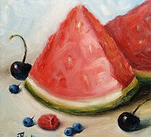 """Watermelon And Berries"" by Tatiana Roulin"
