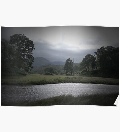 Wetherlam from the Brathay. Pinhole Image Poster