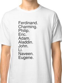 Disney Princes Names Classic T-Shirt