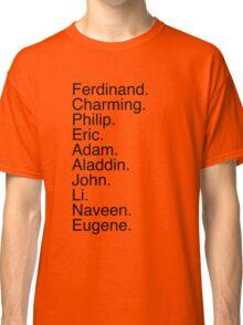 Disney Princes Names Classic T-Shirt