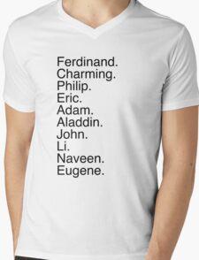 Disney Princes Names Mens V-Neck T-Shirt