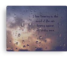 I love the rain Canvas Print