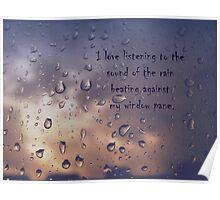 I love the rain Poster