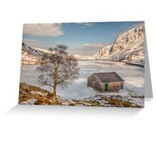 Frozen Lake Ogwen Greeting Card