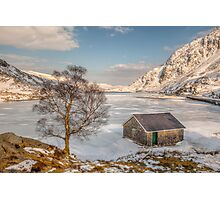 Frozen Lake Ogwen Photographic Print