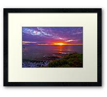 Sunset, Palos Verdes CA Framed Print