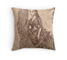Haunted Lady Throw Pillow
