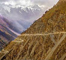 High Himalayan road by Kevin McGennan