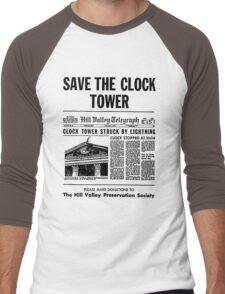 Save the Clocktower Men's Baseball ¾ T-Shirt