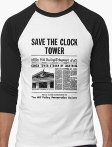 Save the Clocktower Men's Baseball ¾ T-Shirt