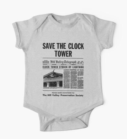 Save the Clocktower One Piece - Short Sleeve