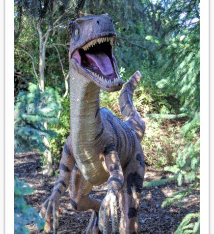 Dinosaur Statue Sticker