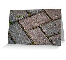 Patio Bricks Greeting Card