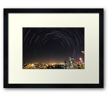 Startrail | Brisbane, Australia Framed Print
