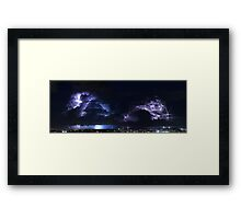 Multiple Exposure | Lightning Framed Print