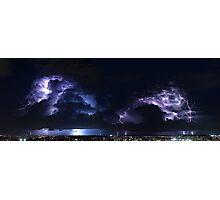 Multiple Exposure   Lightning Photographic Print