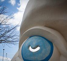 Sculpture Quarter Head at Festival Park Ebbw Vale by Gareth Cullen