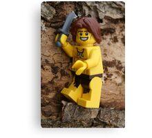 Chopping Wood - Lego Canvas Print