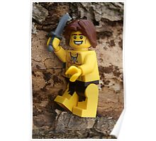 Chopping Wood - Lego Poster
