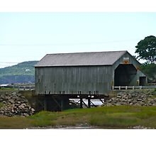 Old Grey Covered Bridge Photographic Print