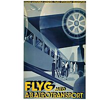 Vintage Airline Travel Poster Photographic Print