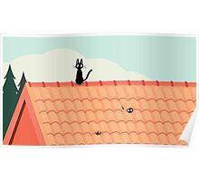Studio Ghibli - Jiji the Cat Poster