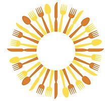 circular cutlery design by sledgehammer