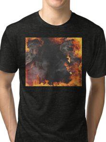 Smoky flames Tri-blend T-Shirt